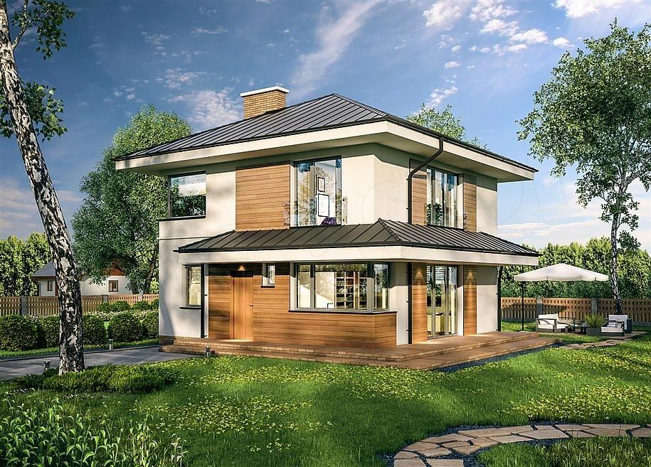 Проект дома из пеноблока «Солнечный»