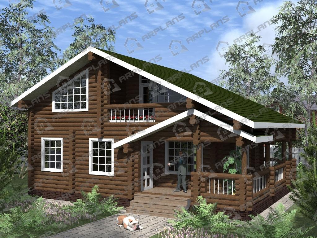 Проект дома из бревна ДО-001
