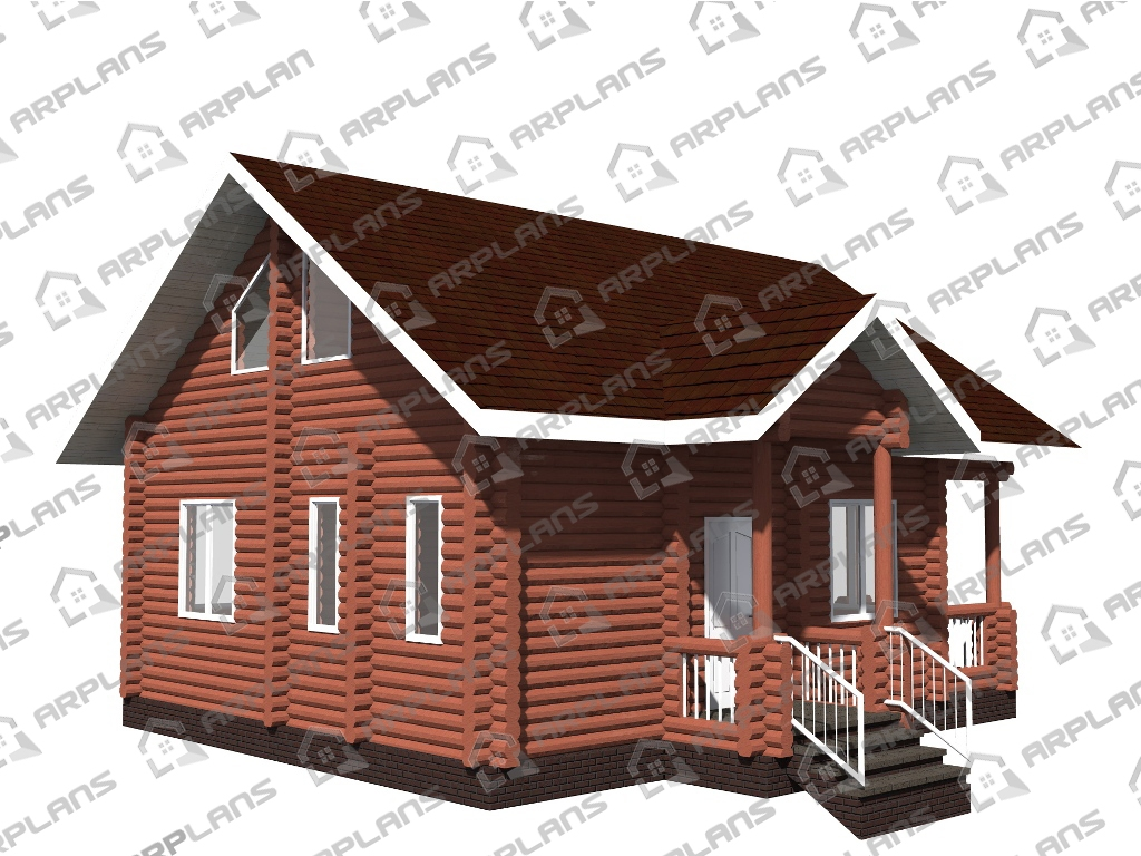 Проект дома из бревна ДО-002