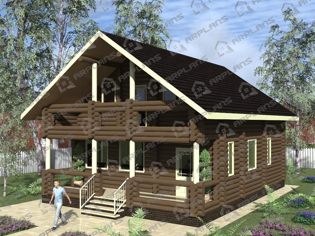 Проект дома из бревна ДО-003