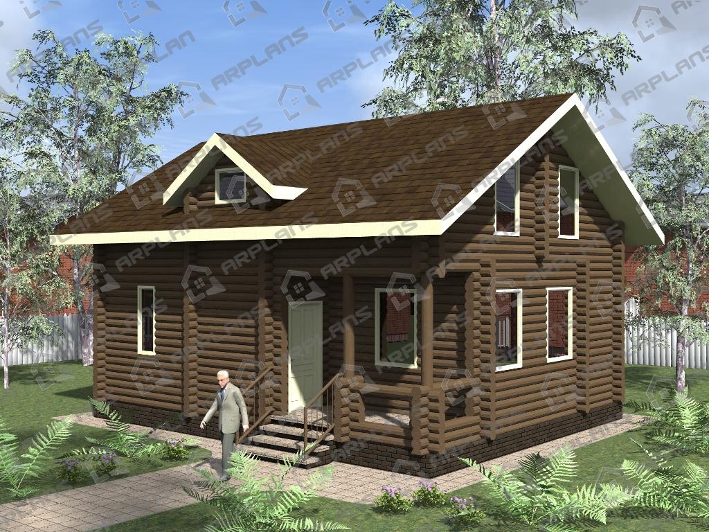 Проект дома из бревна ДО-005