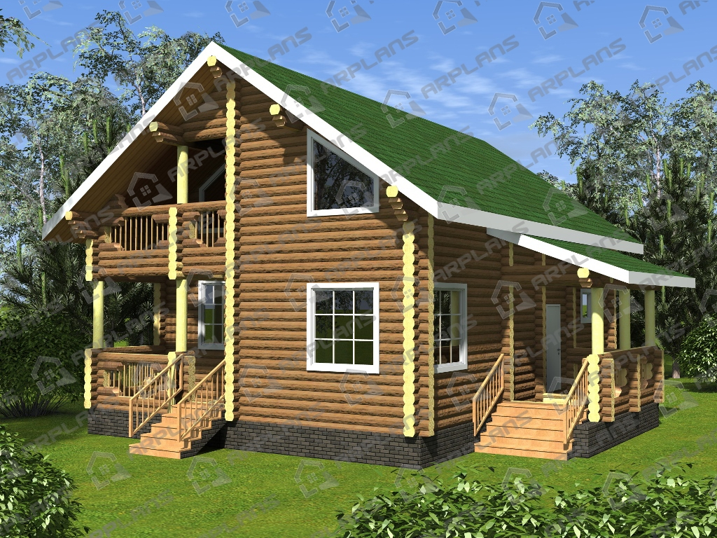 Проект дома из бревна ДО-008
