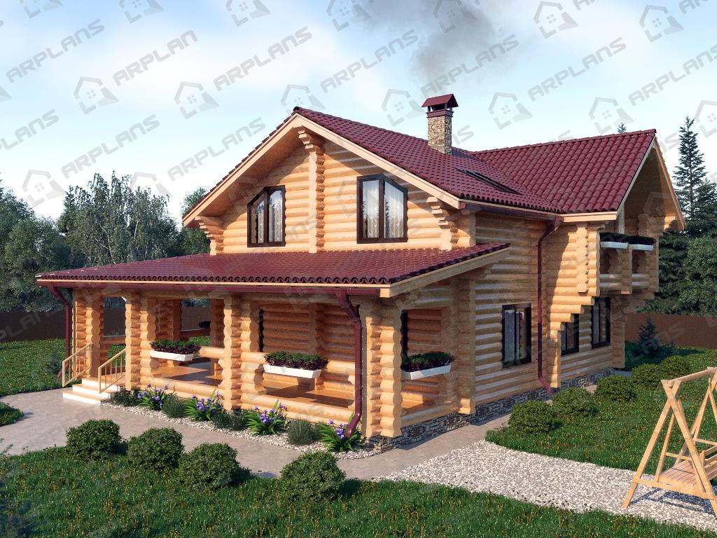 Проект дома из бревна ДО-010