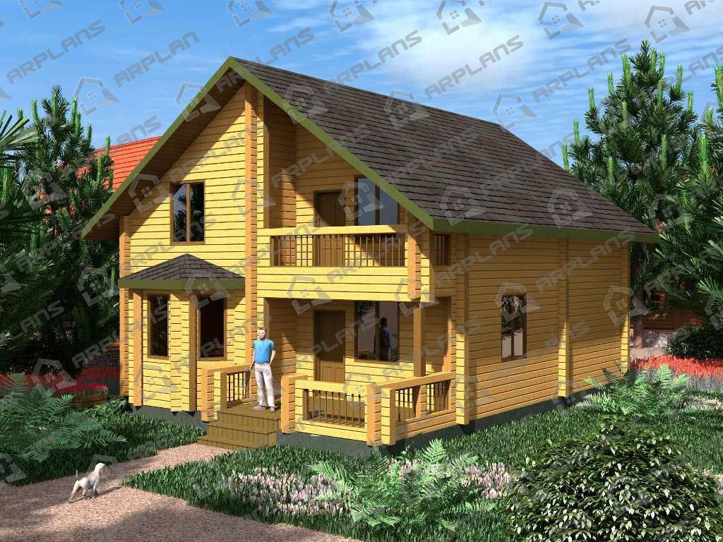 Проект дома из бруса ДС-001
