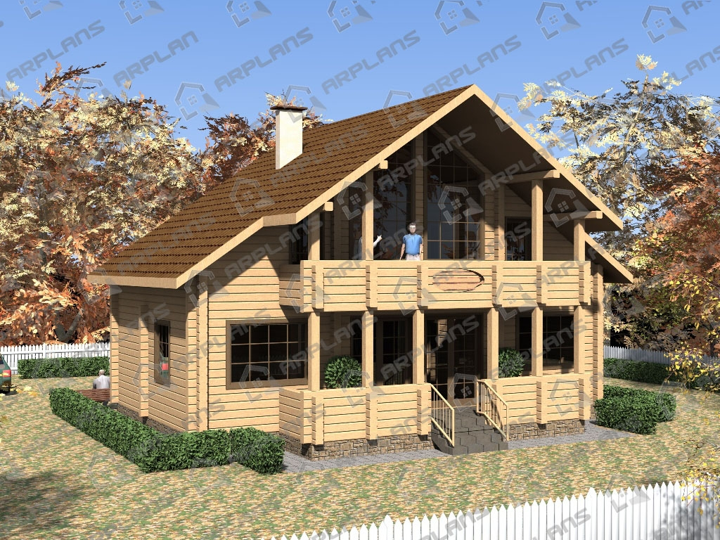 Проект дома из бруса ДС-002