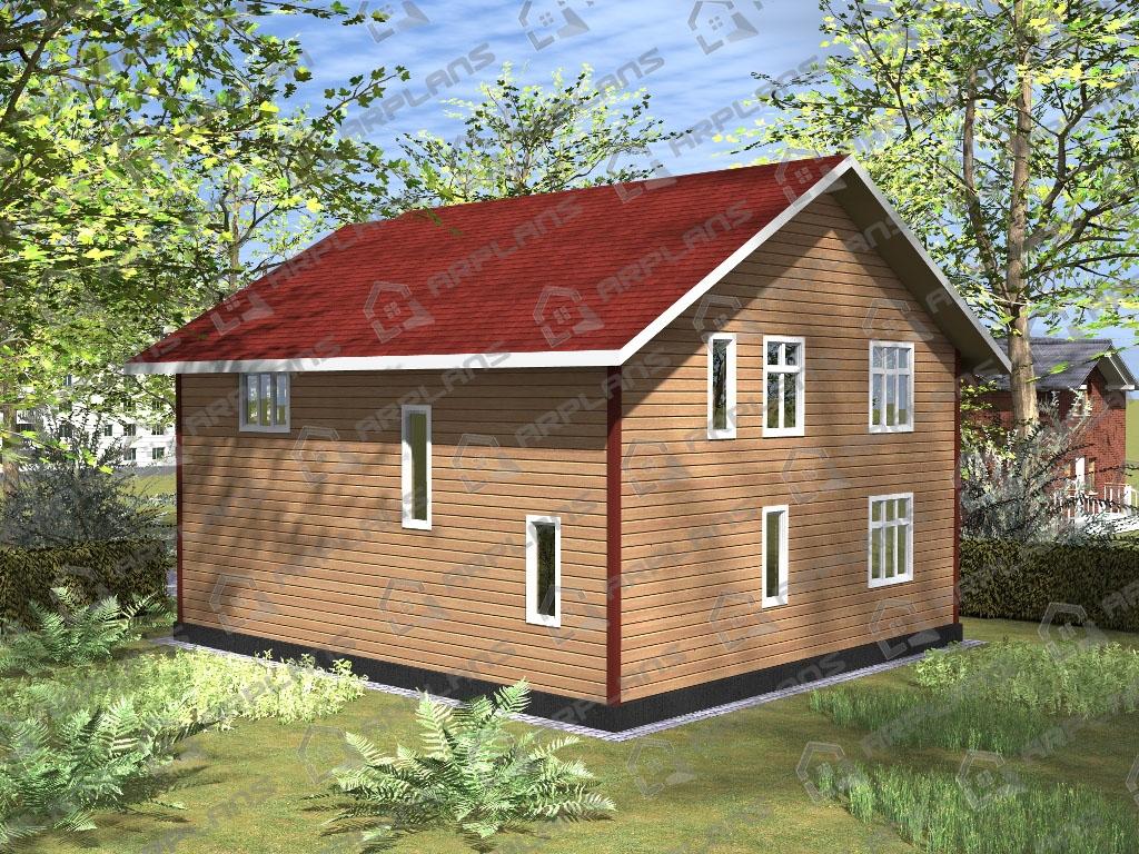 Проект дома из бруса ДС-003