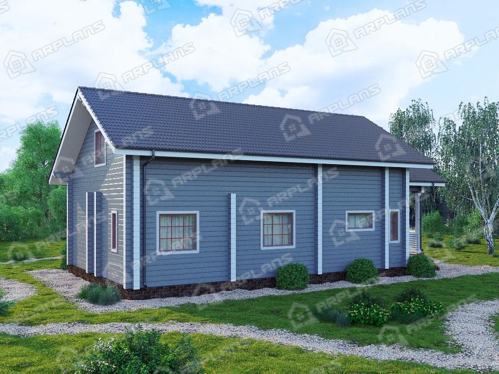 Проект дома из бруса ДС-004