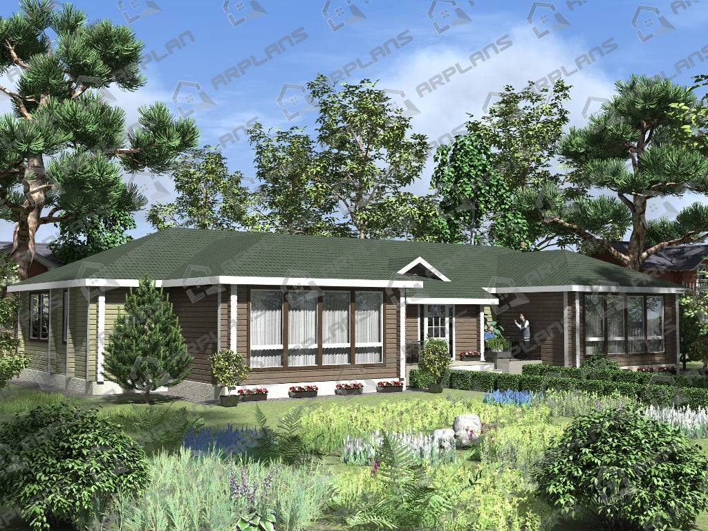 Проект дома из бруса ДС-005