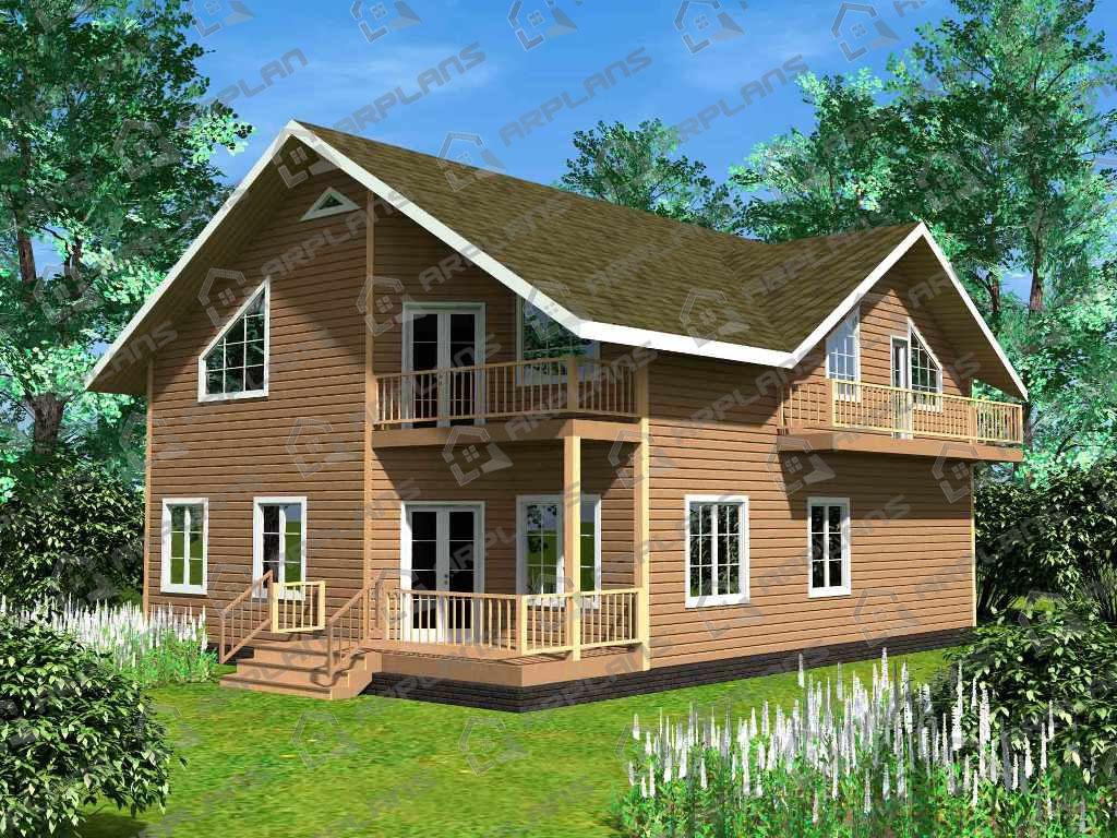 Проект дома из бруса ДС-006