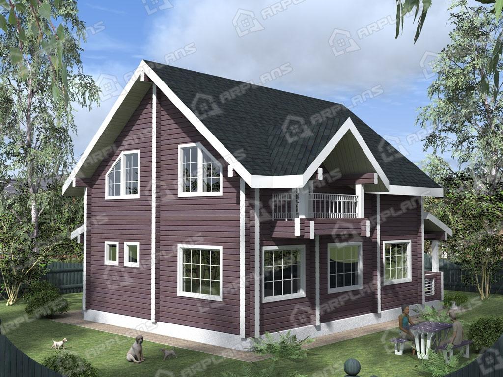 Проект дома из бруса ДС-007