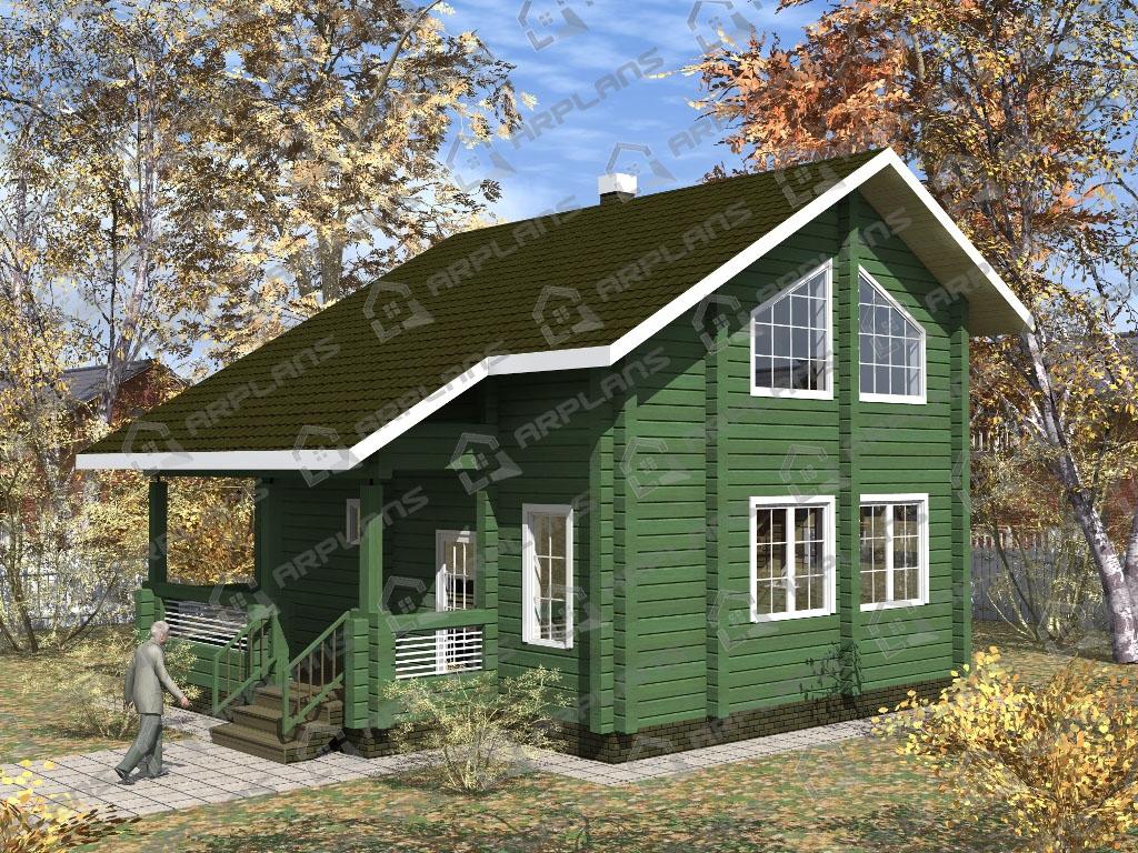 Проект дома из бруса ДС-008