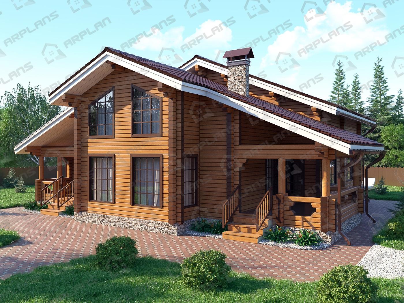 Проект дома из бруса ДС-010