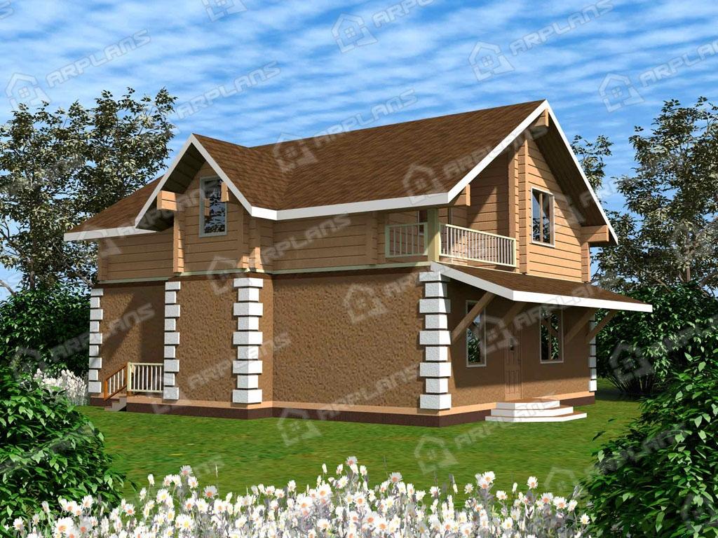Проект комбинированного дома А-001