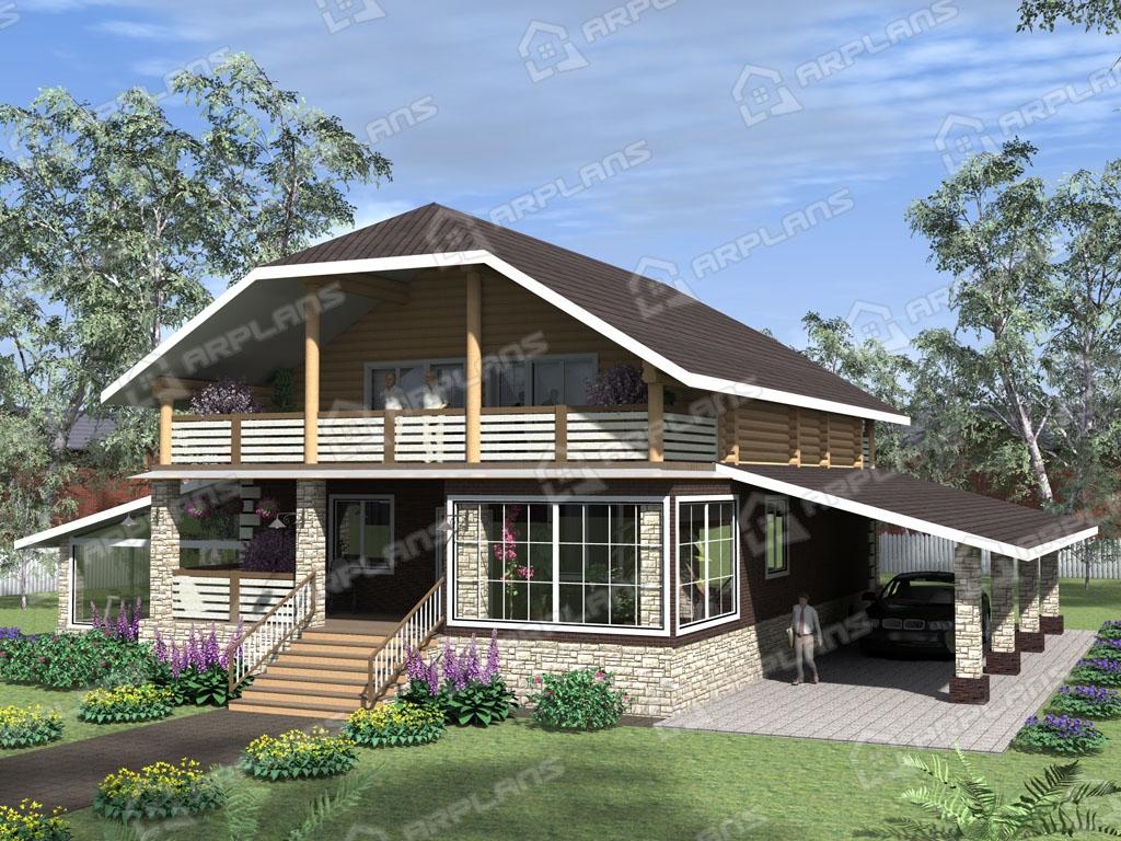 Проект комбинированного дома А-002