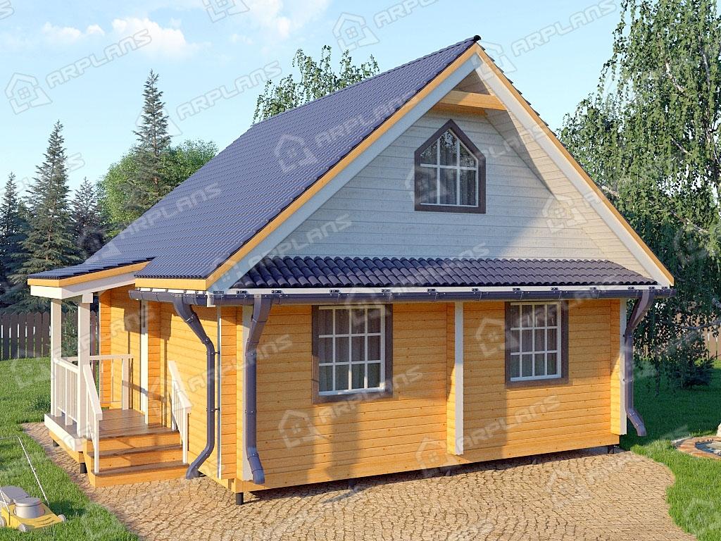 Проект комбинированного дома А-004