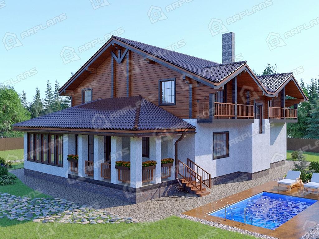 Проект комбинированного дома А-005
