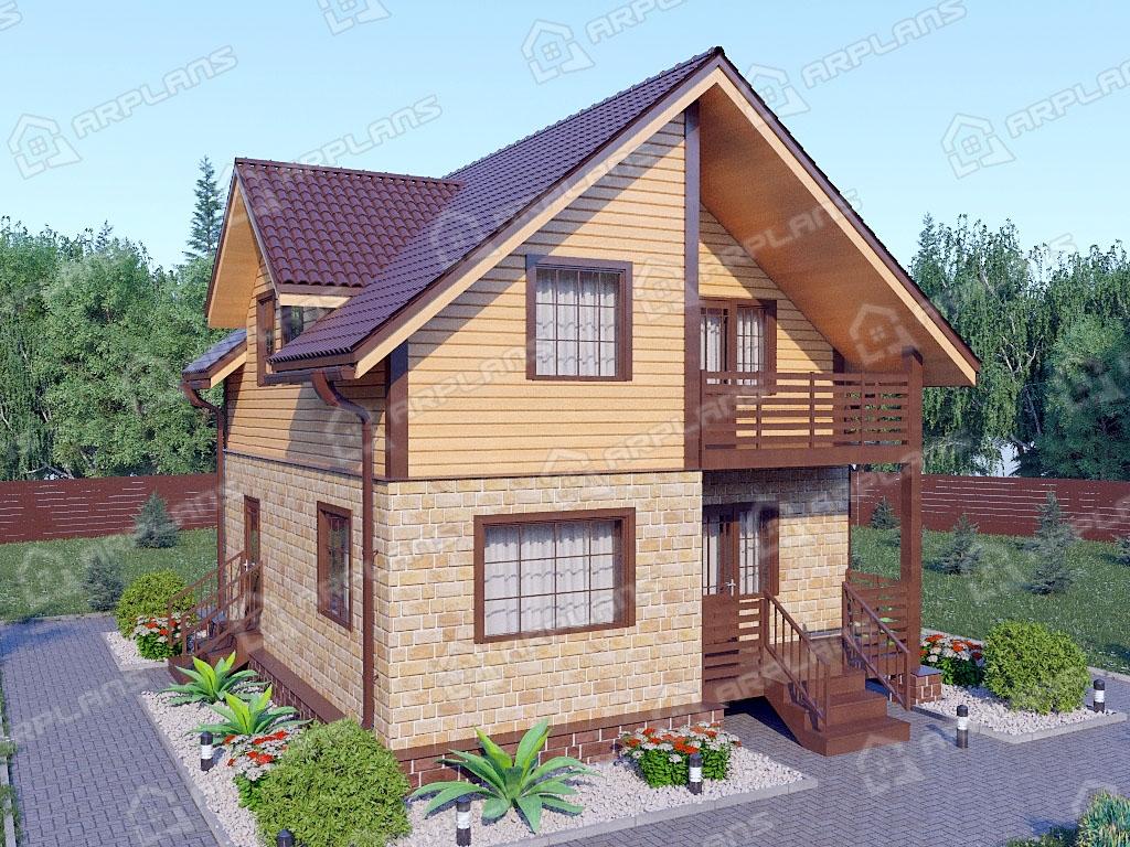 Проект комбинированного дома А-006