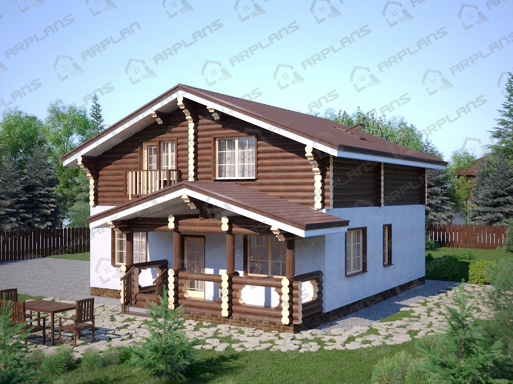 Проект комбинированного дома А-007