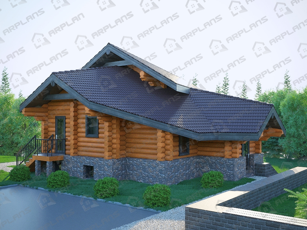 Проект комбинированного дома А-009