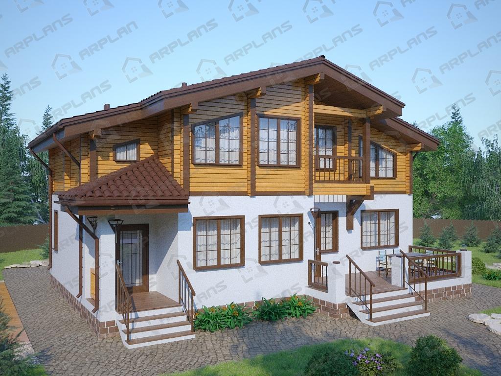 Проект комбинированного дома А-010