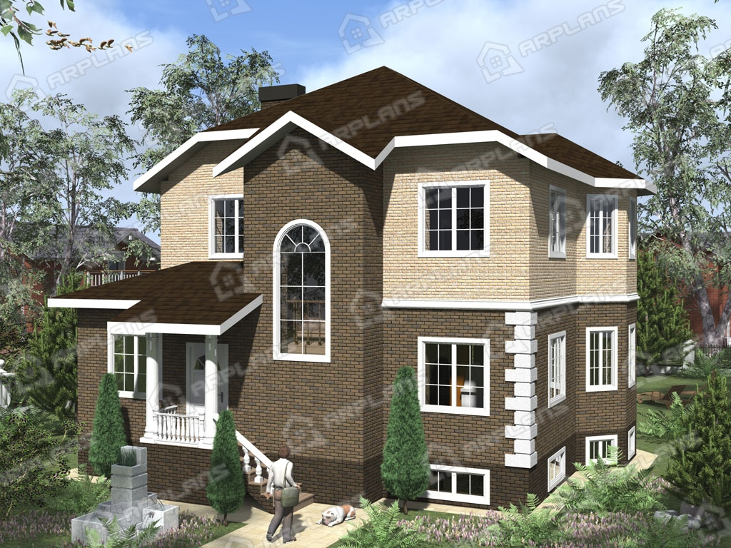 Проект дома из пеноблока К-001