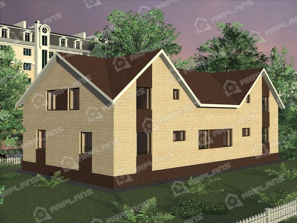 Проект дома из пеноблока К-002