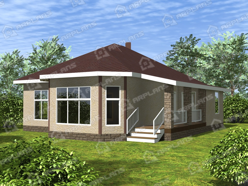 Проект дома из пеноблока К-003