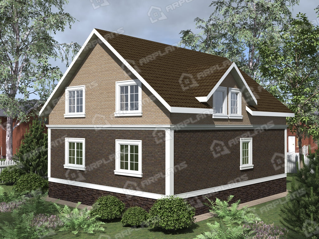 Проект дома из пеноблока К-005