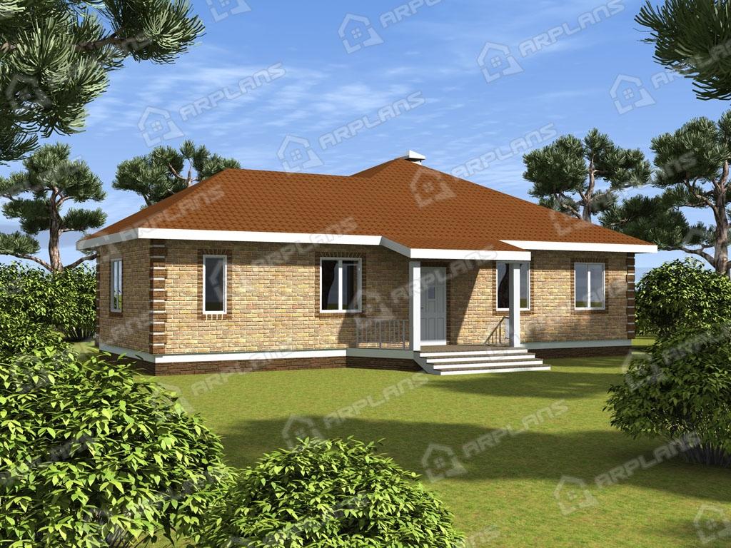 Проект дома из пеноблока К-007