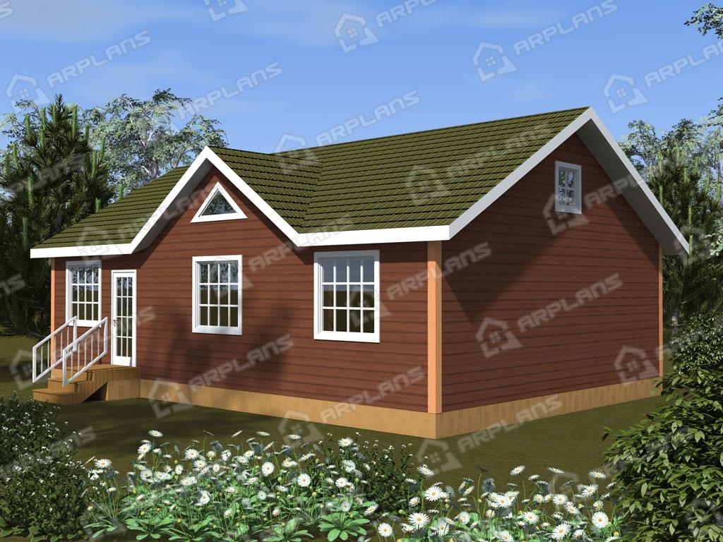 Проект дома из пеноблока К-008