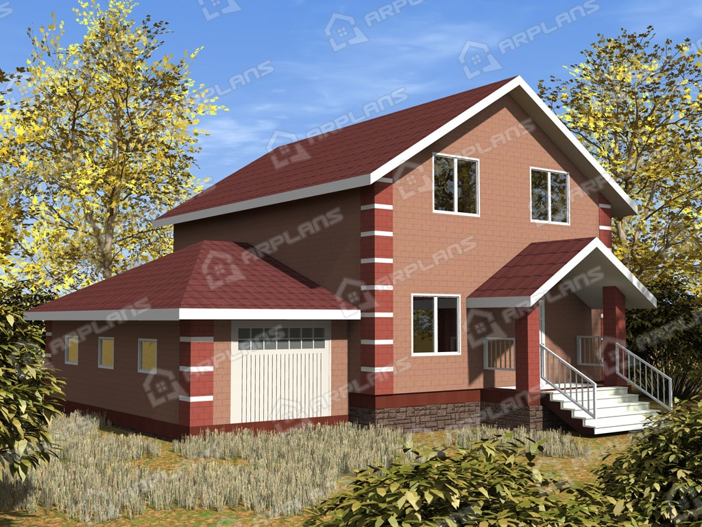 Проект дома из пеноблока К-009