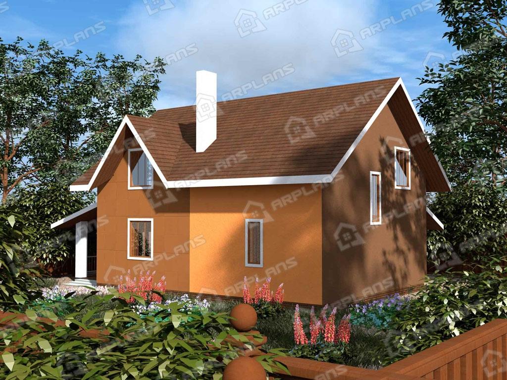 Проект дома из пеноблока К-010