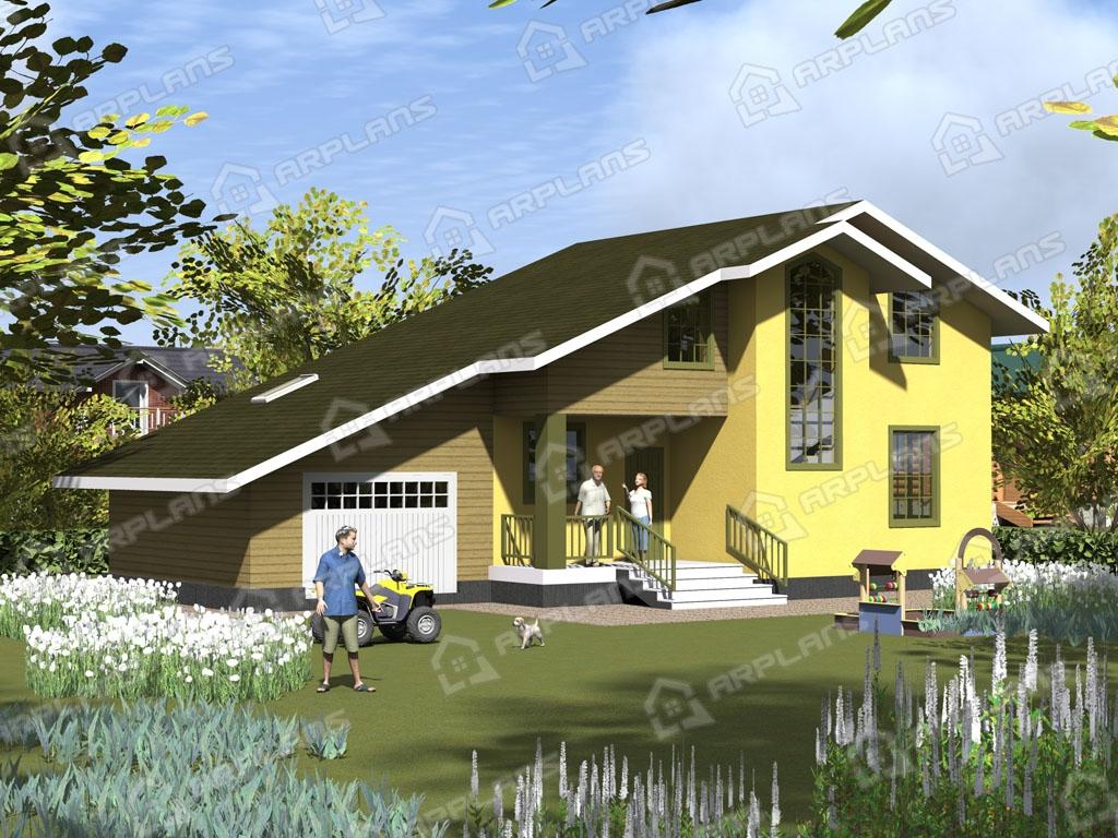 Проект каркасного дома И-002