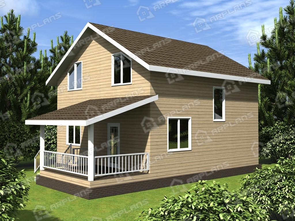 Проект каркасного дома И-004