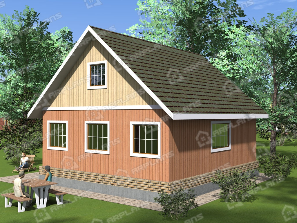 Проект каркасного дома И-005
