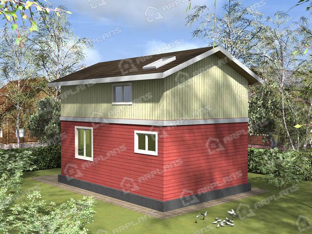 Проект каркасного дома И-006