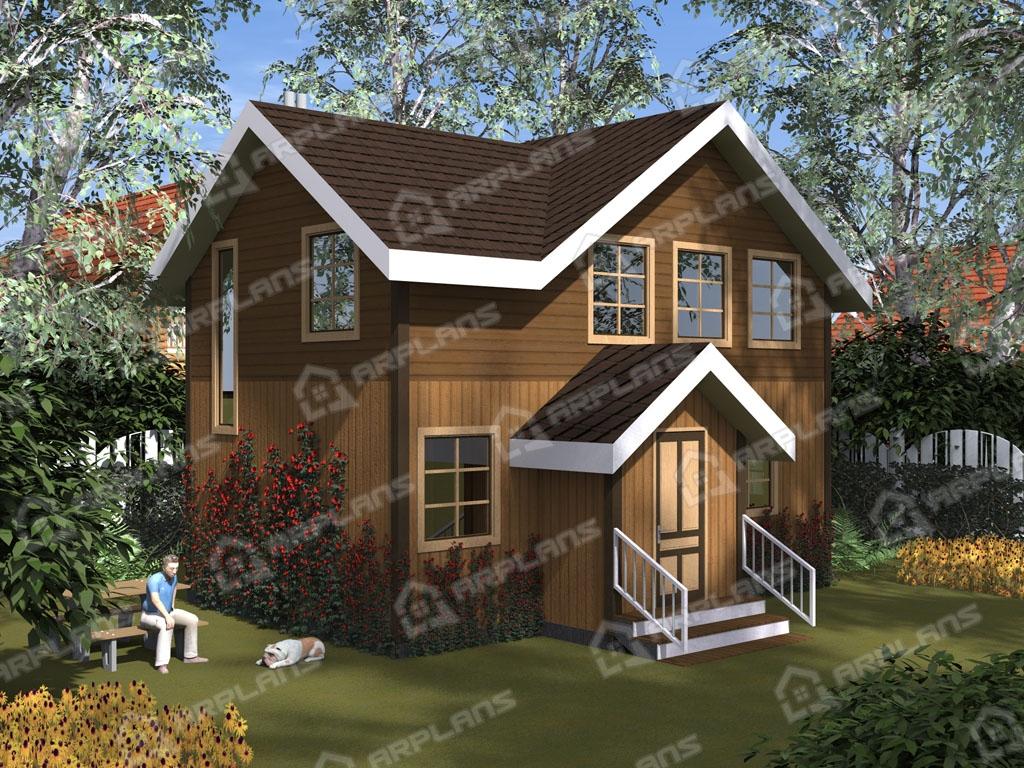 Проект каркасного дома И-008
