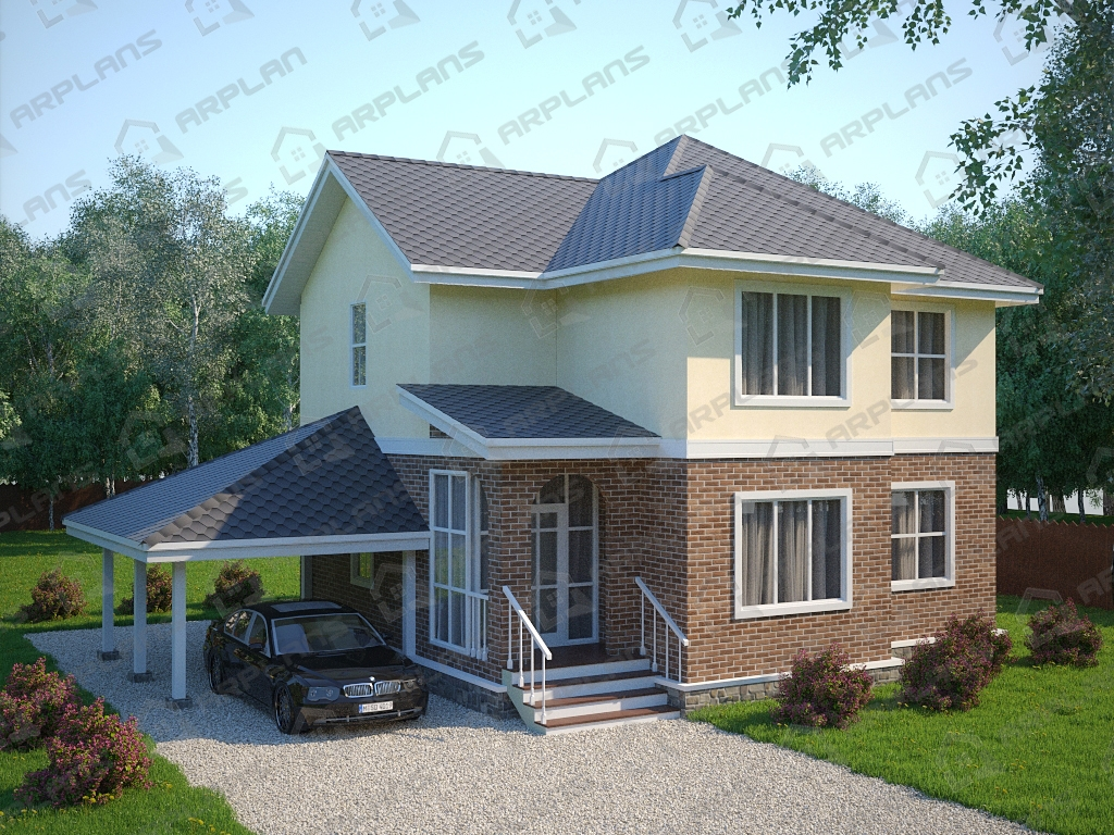 Проект каркасного дома И-009