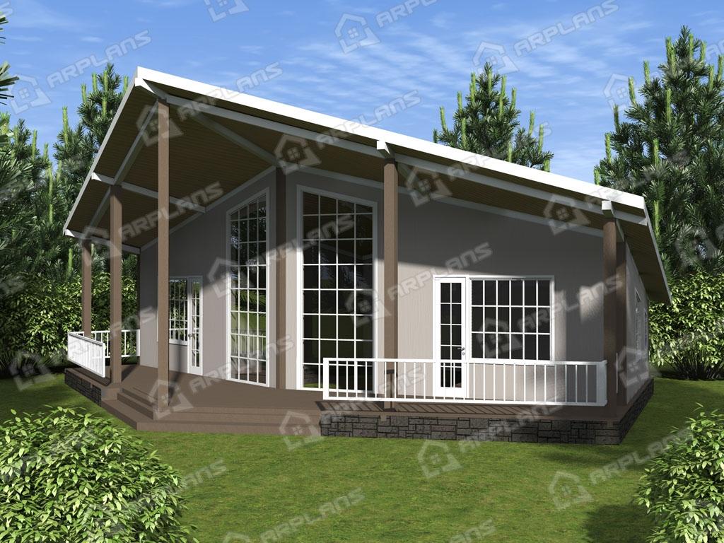 Проект каркасного дома И-010