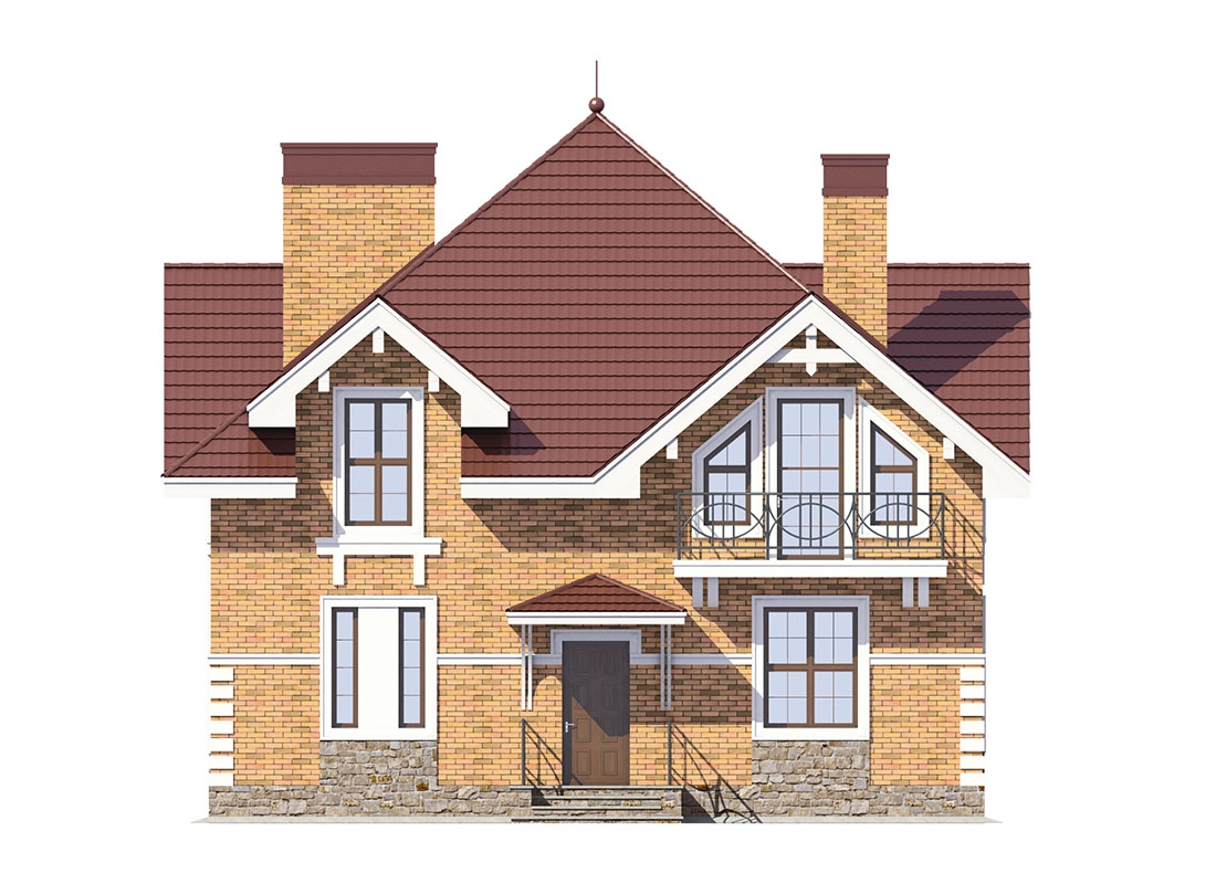 Проект дома из кирпича «Ваилд»