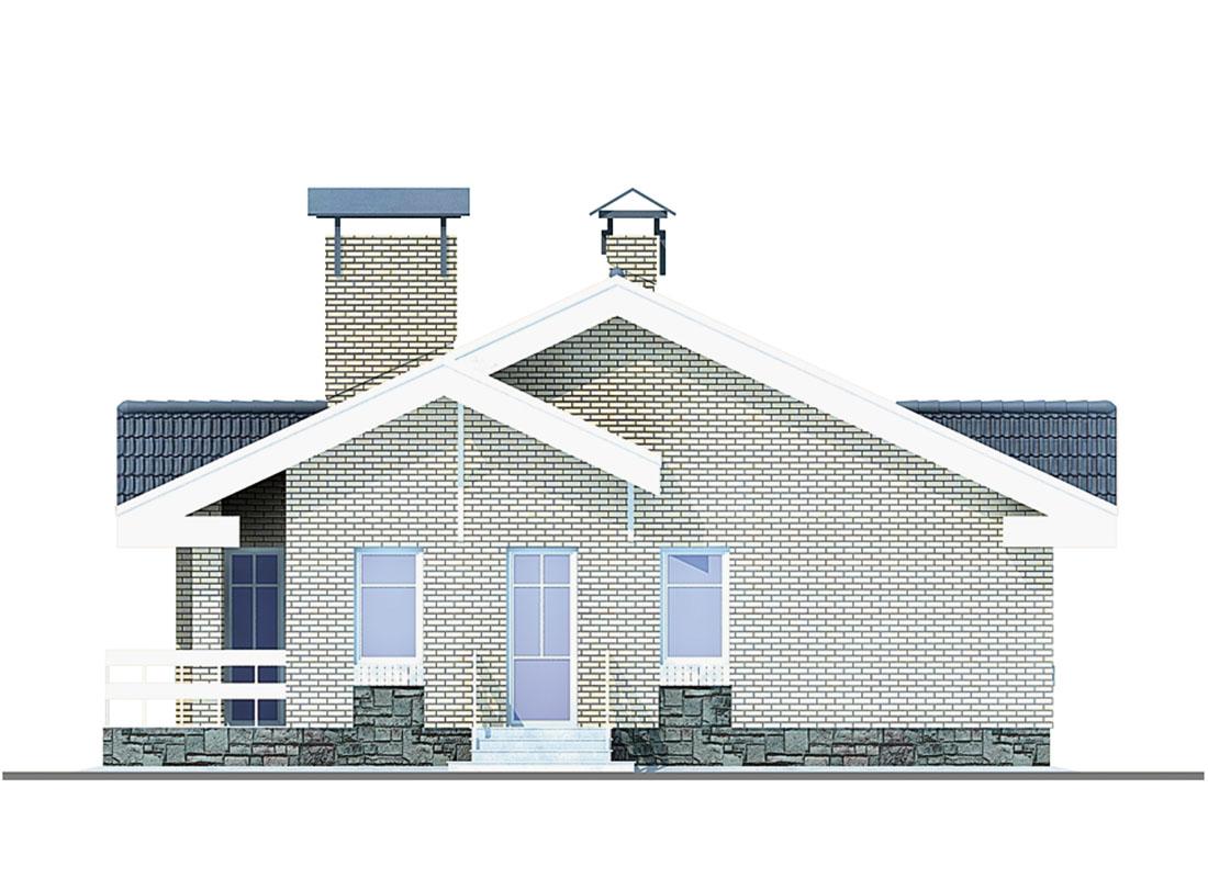 Проект дома из кирпича «Слим»