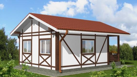 Проект каркасного дома «Деус»
